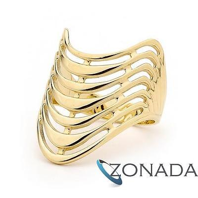 7 Wishes Plain 9ct 9k Solid Yellow Gold Ring Size P 7.75 41927