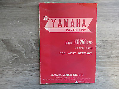 Yamaha Parts List Spare Parts Catalog Rd50 Type 2u1 Catalogue Explosive Drawing
