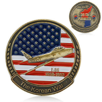 Korean War 38th Parallel 1950 - 1953 Commemorative Coin Challenge Collection New
