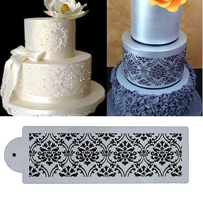 1pc Lace Cake Cupcake Cookie Side Stencil Template Mold Baking Decorating Tool