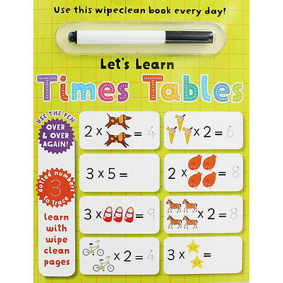 Lets Learn Times Tables - Wipe Clean Activity Book, Children's Books, Brand New