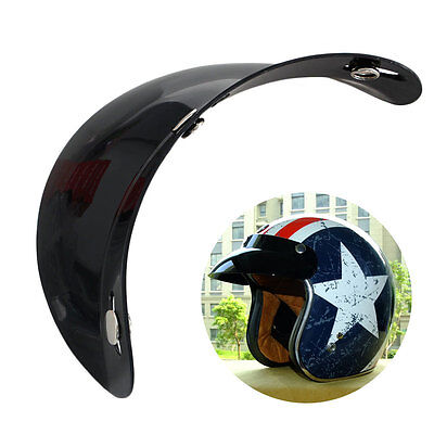 New Universal 3 Snap Visor Face Shield Lens For Motorcycle Helmets Open Face