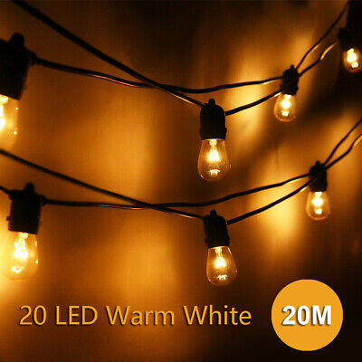 20 Metre Clear Festoon Party Wedding String Light Kit - Vintage Retro Style