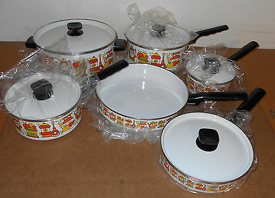 Vintage NOS Sears Aluminum Cookware 11-Piece Cookware Set 1960s 1970s Never Used