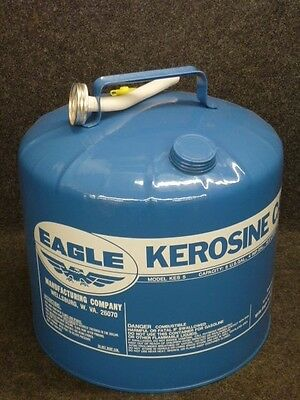 NOS! VINTAGE EAGLE 5-Gallon GALVANIZED STEEL KEROSENE CAN, KES5, USA