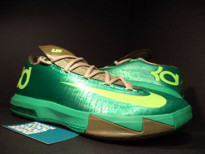 646c4882b0fe Nike Zoom KEVIN DURANT KD VI 6 BAMBOO GAMMA GREEN LIME LINEN UMBER  599424-301