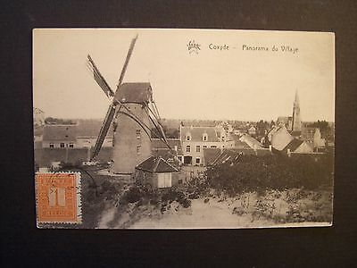 CPA  - ( Moulin ) - Belgique - Coxyde - Panorama du Village
