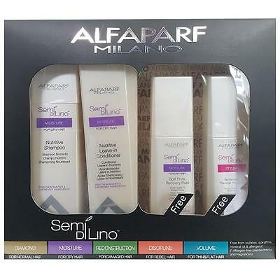 AlfaParf Nutritive Set Shampoo,Conditioner Split Ends Recovery Fluid Thermal Pro