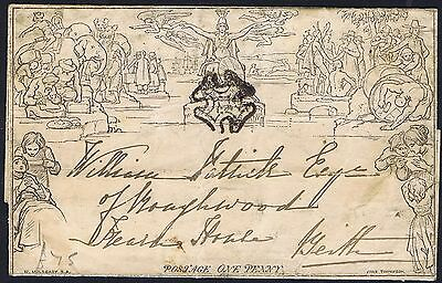 1841 1d Mulready Lettersheet Ardrossan to Beith Cat. £500.00