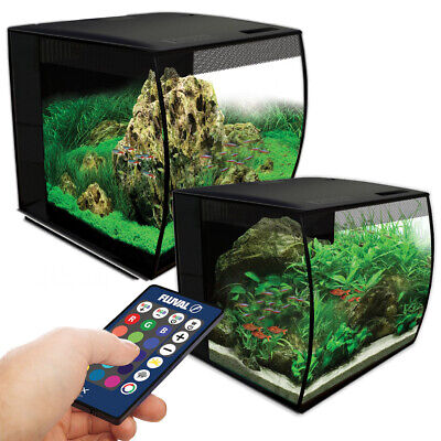 Fluval Flex LED Aquarium Nano Tank 34L / 57L Bowfront Integrated Filter Fish
