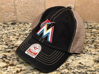the latest bc35b 387be Miami Marlins  47 Brand MLB Quick Switch Franchise Easyfit Cap Hat Medium   26