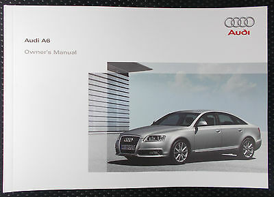 Genuine Audi A6 C6 Owners Manual Handbook – 09/2008 Edition