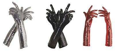 Sequin Flapper Long Adult Womens Gloves Costume OS