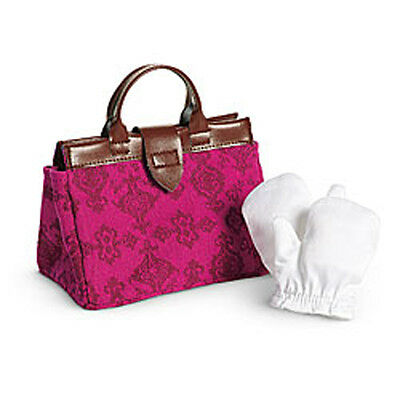 """American Girl SAMANTHA TRAVEL BAG SET for 18"""" Dolls Gloves Accessories Purse NEW"""