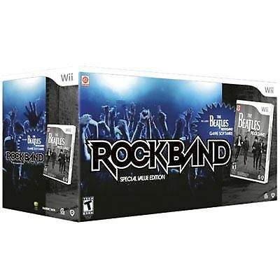THE BEATLES Rock Band Special Value Edition Bundle NINTENDO Wii drums/guitar/mic