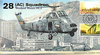 AV600 2007 28 Sqn Wessex RAF KAI TAK Hong Kong to China handover cover 10th Ann