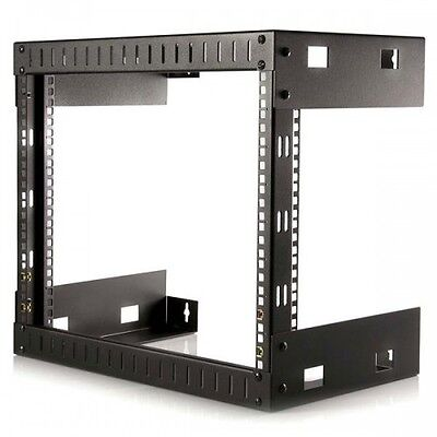NEW! Startech.Com 8U Open Frame Wall Mount Equipment Rack - 12In Deep RK812WALLO