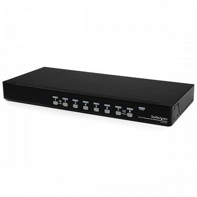NEW! Startech.Com 8 Port 1U Rackmount Usb Kvm Switch With Osd SV831DUSBU