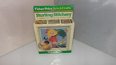 Vintage 1980 Fisher Price Starting Stitchery Girl With Flowers Craft Kit