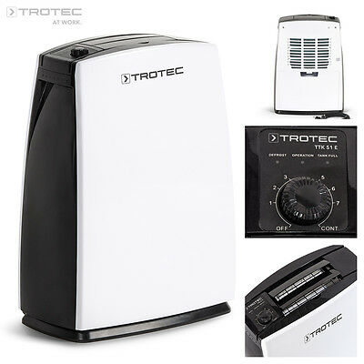 TROTEC TTK 51 E Portable Air Dehumidifier, Dehumidifying max. 16 L/Day