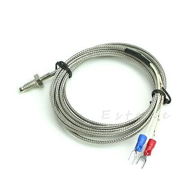 2M M6 0-600℃ K-Type Temperature Screw Thermocouple Controller Sensor Probe new