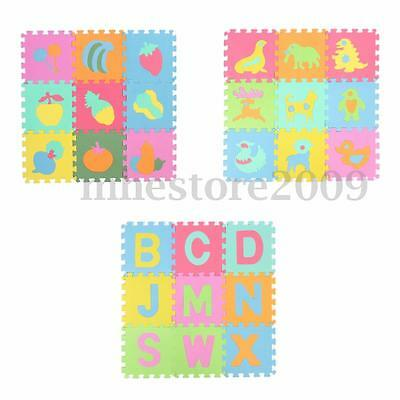 10 pcs Baby Kids Toddler Room Crawl Play Game Foam Fruit Puzzle Floor Mat Gifts