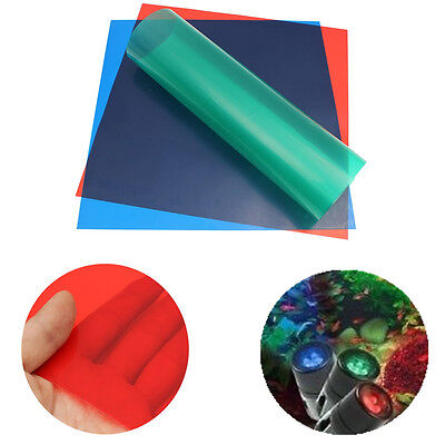 3PCS 24'' x 24'' PRIMARY COLOURS Lighting Filter Gel Sheets PRIME RED BLUE GREEN