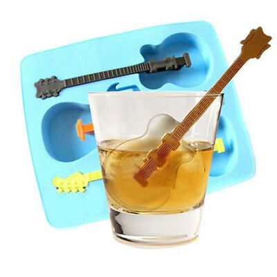 Guitar Tray Ice Cubes Mould Pudding Jelly Mold Freeze Silicone Bar Party Drink