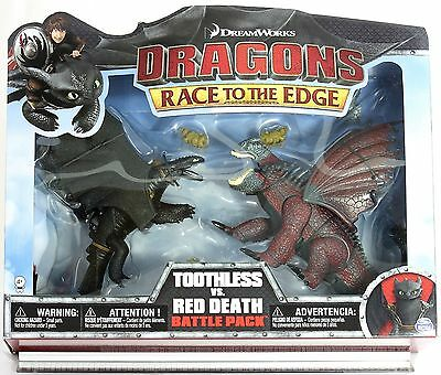 Dragons - Deluxe Dragons Legends Battle Pack - Ohnezahn & der rote Tod NEU / OVP