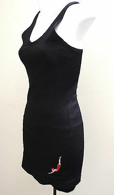 Vintage 1930s JANTZEN swimming costume black wool LADIES 40 swim suit Pre-war