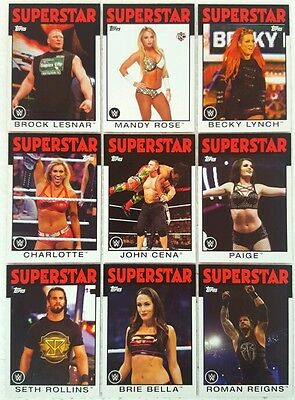 WWE 2016 HERITAGE Trading Card  Set of 110 ● CENA ● BALOR ● STYLES ● PIPER