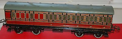 HORNBY SERIES O GAUGE No 2 PASSENGER BRAKE COACH IN LMS RAILWAYS LIVERY BOXED