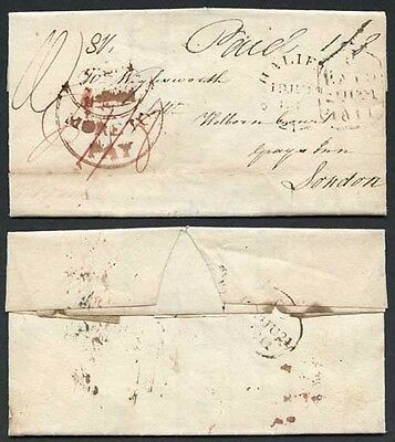 1811 (19 June) Entire Fine Strike of the RARE (Crown)/More To/Pay in Crescent