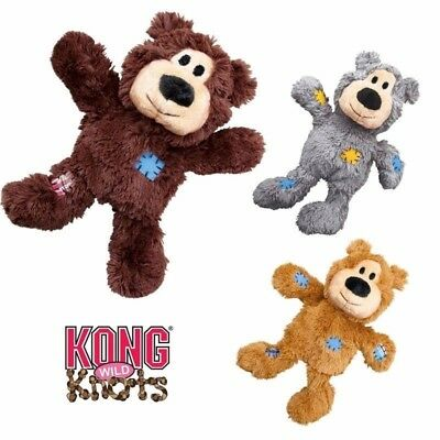Kong Wild Knots Bear - Plush Squeaky Dog Puppy Toy Knotted Rope For Strength