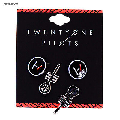 Official 21 Twenty One Pilots EARRINGS Pierced Set 2 Pack Clique Gift