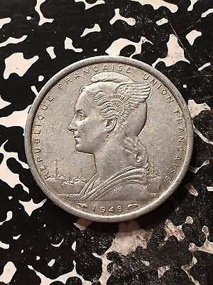 1948 French West Africa 2 Francs Lot#9840 Nice!