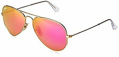Ray-Ban Women's Sunglasses - Gold Frame/Pink Mirrorred Lens - Size: 58mm
