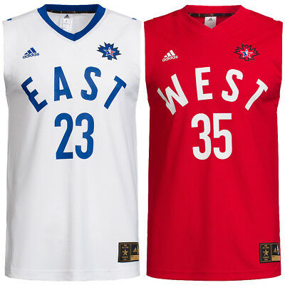 NBA All Star adidas Basketball Trikot West Durant #35 East James #23 S - XXL neu
