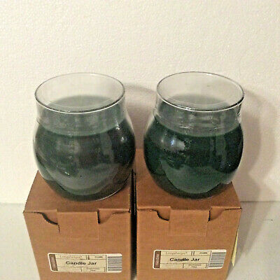 Candle Jar Green CHRISTMAS PINE Longaberger 13 ounce oz Burn time 70 Hours new