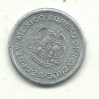 High Grade Au 1935 New Mexico 1 Mil School Emergency Tax-5 Cents Purchase Token