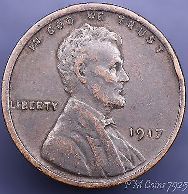 1917 US Lincoln One cent 1c coin [7925]
