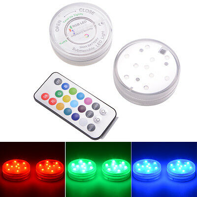 MultiColor Remote Control Submersible Underwater LED Lights for Aquarium LD841