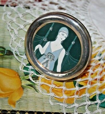 Vintage Circular Solid Silver 925 Picture/Photo Frame Miniature Standing Gift