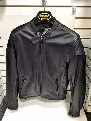 Vanson Leathers Drifter Leather Jacket - Size Small (38-40) - Drft - Retro
