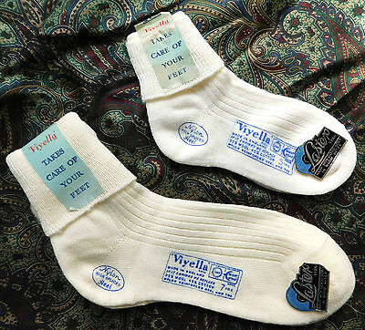 Vintage childrens ankle socks 1950s UNUSED VIYELLA girls boys school wool mix
