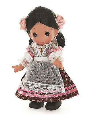 PRECIOUS MOMENTS Vinyl Doll MEXICAN GIRL Costume Dress MEXICO SKIRT Pink Rose 9""