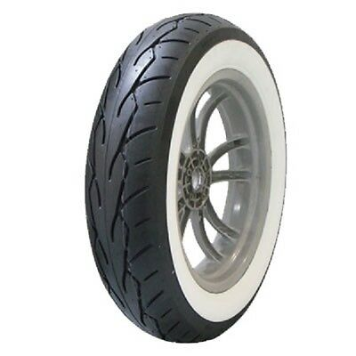Vee Rubber VRM-302 Twin Wide White Wall Front Motorcycle Tire Size: 120/70-21