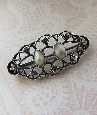 ANTIQUE William Haseler Liberty & Co? Blister Pearl SIlver BROOCH