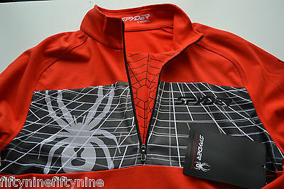 NEW AUTHENTIC  Spyder Men's Sidepoint  Half Zip Volcano Red - Small...