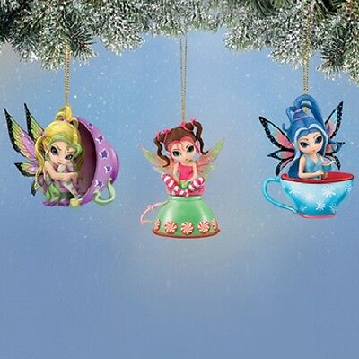 Teacup Fairy Ornaments #1 Jasmine Becket Griffith Bradford Exchange